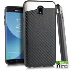 For Samsung Galaxy J3 Star / J3 Achieve - Carbon Fiber Magnetic Back Plate Case