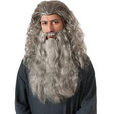 Adult Gandalf Wig & Beard Hobbit Lord of The Rings Costume Ru34035