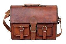 Men's Rare S Leather Vintage Laptop Messenger Handmade Briefcase Bag Satchel