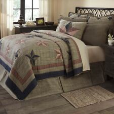 Vhc Primitive Patchwork Quilt Bedspread King Queen Twin Cotton Reversible