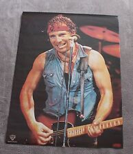 Bruce Springsteen 1980s Live Solo Sweaty Jean Vest Pays Bas Music Poster Vg C6.