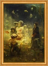 Sadko Ilja Jefimowitsch Repin Nacht Fische Meer Meerjungfrauen Ball B A3 02303
