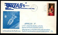 Apollo 5- LM-1 test- LM module destroyed in re-entry-Tex. tracking Astro covers