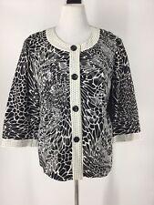 Women's Jacket XL Chicos Size 3 Black & White
