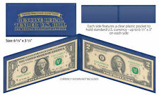 BLUE Premium Display Protection Folio for CURRENCY / BILL / PAPER MONEY (QTY 10)