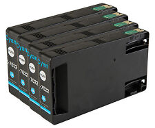 4 Cyan T7022 non-OEM Ink Cartridge For Epson Pro WP-4545DTWF WP-4595DNF