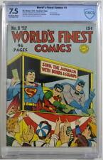 WORLD'S FINEST COMICS #8 CBCS 7.5 Superman Batman 1942 CGC War Bonds cover