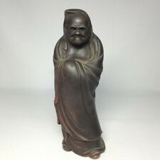 D0287: Japanese Bodhidharma statue of really old BIZEN stoneware with great work