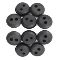10pcs 2 Hole Fuel Tank Grommet Rubber Black For Stihl Honda Trimmer Lawn Mower