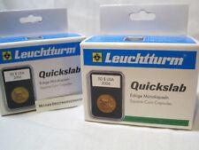 Leuchtturm Münzkapsel QUICKSLAB 5er Packung zur Auswahl