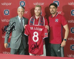 MICHAEL DE LEEUW signed *CHICAGO FIRE* MLS SOCCER 8X10 (FC GRONINGEN) W/COA #2