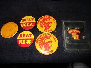 VINTAGE 1980's USC Trojans Button Pinback (X6) University Southern California