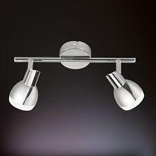 WOFI Plafonnier LED Nantes à 2 lampes Chrome Réglable 10 W 800 Lumens Spot