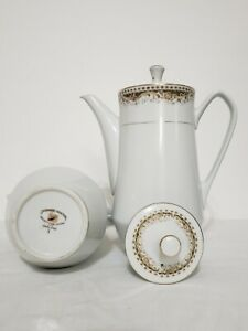 Signature Collection- Queen Anne Select Fine China Coffee Pot and Lid