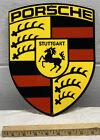 Porsche Die-Cut Heavy Gauge Metal Sign Foreign Cars Stuttgart Horse Gas Oil