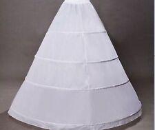 übergroß A-Linie Brautkleid Petticoat Klassiker 4 Ringe Reifrock Unterrock Weiß