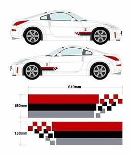 Nissan Nismo Broken Stripe Set - 350z Skyline GTR S14 R34 Car Decal Graphic