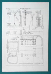 ARCHITECTURE Cloister of Saint Trophime at Arles - 1858 Litho Print