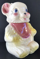 Vintage Cookie Jar Teddy Bear 1940's Royal Ware Pottery USA Cookie Jar 11""