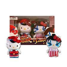 Sanrio Hello Kitty Street Fighter M. Bison & E. Honda 2-Pack PVC Figures-Toynami