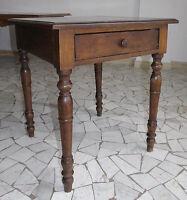 Scrittoio consolle tavolino antico ottima manifattura noce 70x70 cm  restaurato