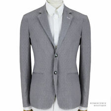 Two Button Cotton Blazers Slim Suits & Tailoring for Men