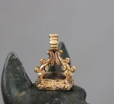 c1840 Ims 19th Century Gold Rock Crystal Seal
