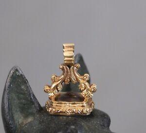 Gold Rock Crystal Seal c1840 IMS 19th Century