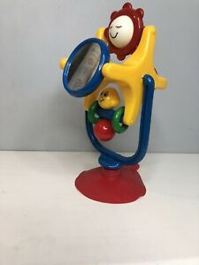 Vintage 80s 90s Suction Cup Rattle Ferris Wheel Spinning Baby Toy Primary Colors