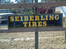 NEW! Vintage style SEIBERLING TIRE sign, auto parts, repairs METAL 1'x4'