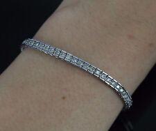 10K White Gold 1.75ct Round Diamond Anniversary Gift Tennis Link Bracelet