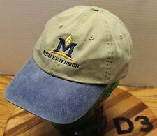 MONTANA STATE UNIVERSITY MSU EXTENSION HAT BEIGE & BLUE ADJUSTABLE VGC D3