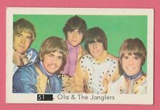 1960s Swedish Pop Star Card #51 Ola & The Janglers with Beatles Sectional Back