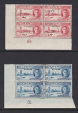 ADEN 1946 VICTORY PLATE 69 & 70 PAIR SG 28-29 FINE USED.