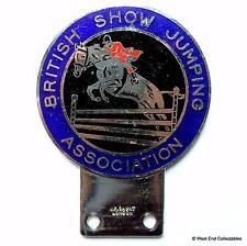 JR GAUNT Car Badge- British Show Jumping Association BSJA -Equestrian Horse Cart