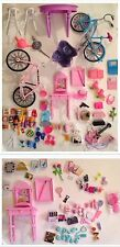 Barbie Doll- Furniture & Accessories Lot- Beauty Supplies, Bikes, Food, + MORE!