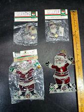 Lot Vtg Stained Glass Suncatcher Christmas Ornaments Kurt S Adler Santa's World