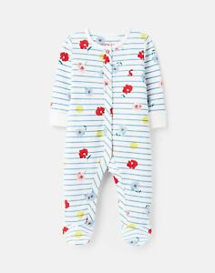 Joules Baby Girls 215675 Organically Grown Cotton Jersey Printed Sleepsuit