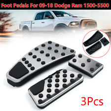 Gas Accelerator+Brake Foot Pedal Pad Cover Set 3pcs/Set For Dodge Ram 1500~5500