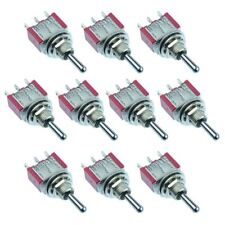 10 x Mini Miniature (On)-Off-(On) Momentary Toggle Flick Switch SPDT 5A