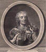 Portrait XVIIIe Charles Alexandre de Lorraine Gouverneur Pays Bas Autrichiens