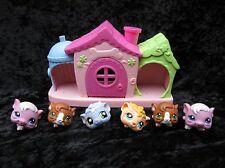 Littlest Pet Shop Lot of Guinea Pigs #1773 (x2) #4 (x2) #1844 1754 + Small House