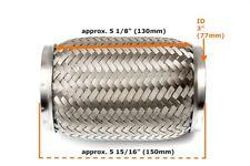 Universal 3 Zoll Flexrohr Flexstück Flammrohr Hosenrohr Auspuff Rohr 76x150mm_