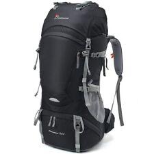 Outdoor Backpack Internal Frame Sports Bag Camping Travel Trekking Hiking Black