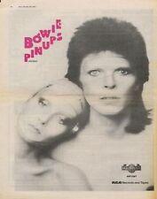 David Bowie Pinups UK LP advert 1973