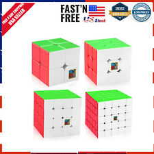 Rubiks Cube Speed Puzzle Kids Toy Game New 2x2 3x3 4x4 5x5 Rubix Gift 4 Pc Set
