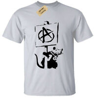 BANKSY ANARCHY RAT Mens T-Shirt tee cool street art graffiti hipster anarchist