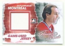 "GUY LAFLEUR ""GAME USED JERSEY CARD"" ITG FOREVER RIVALS CANADIENS"