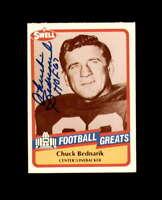 Chuck Bednarik Hand Signed 1989 Swell Philadelphis Eagles Autograph