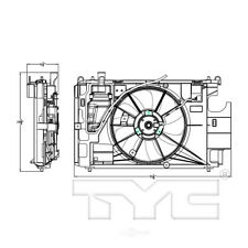 Dual Radiator and Condenser Fan Assembly TYC 623150 fits 12-18 Toyota Prius C